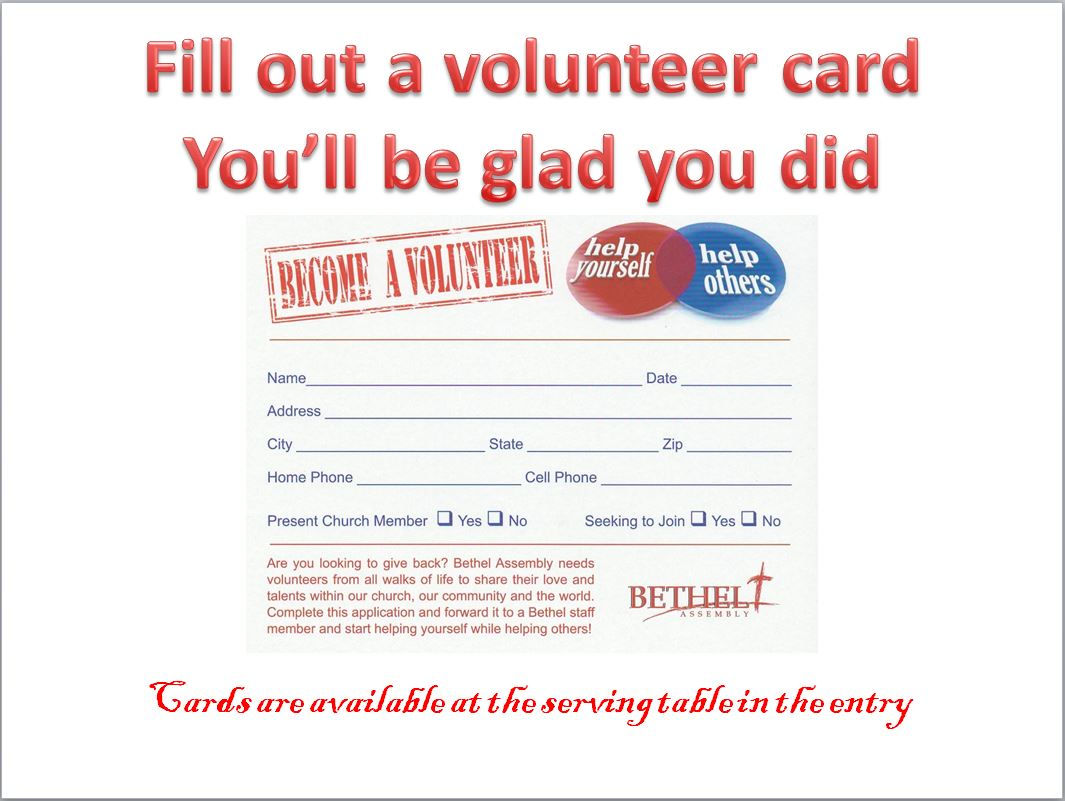 Volunteer Card 1